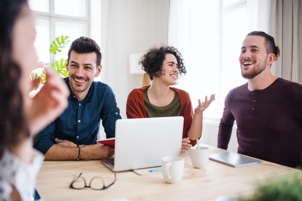Mitarbeiter bei Online-Training